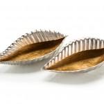 "JRA-9849S2 sm 5.5""H X 20""W X 12""D.  lg: 5""H X 22.5""W X 13""D.  A pair of beautifully simplified bailer shells"